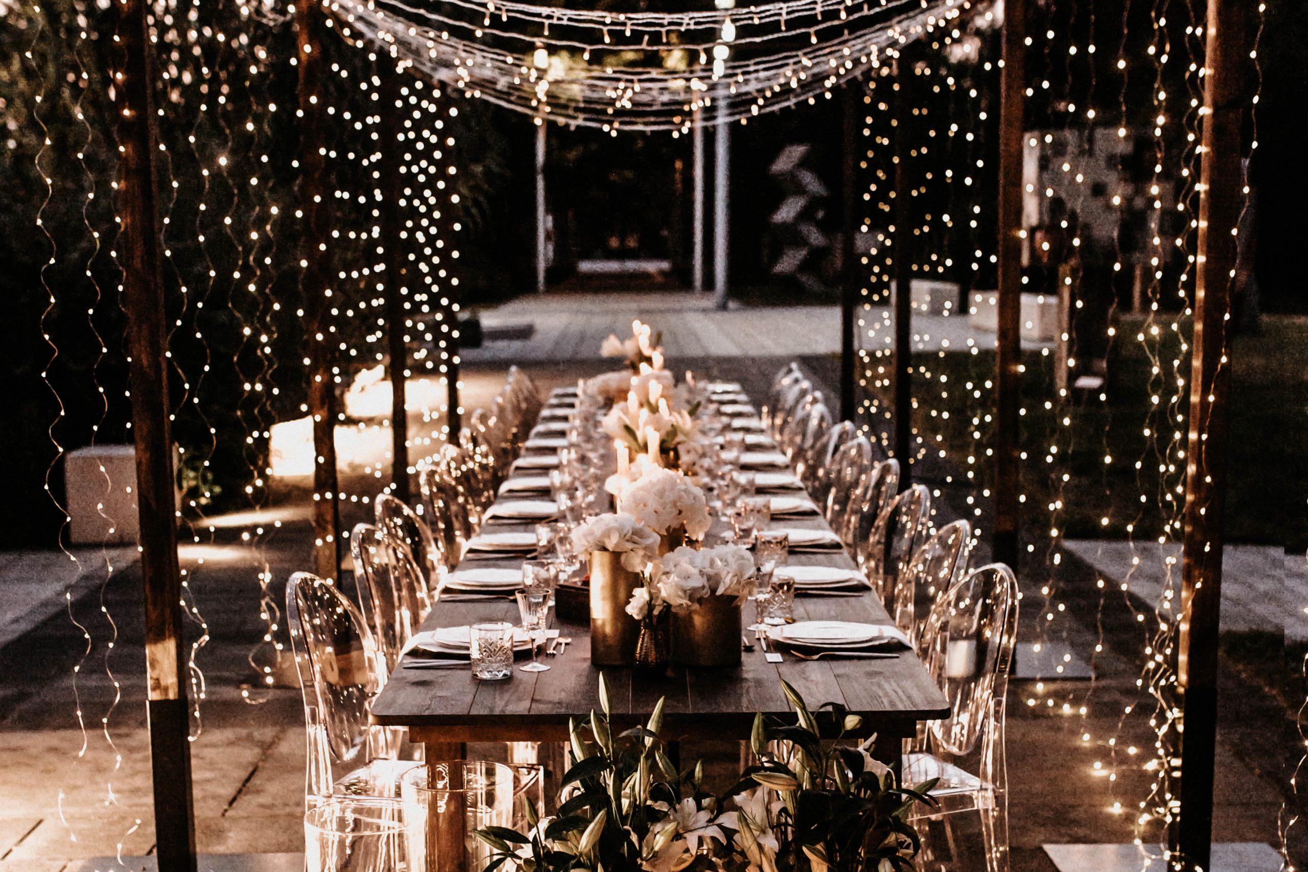 Hochzeit im Lichtertunnel